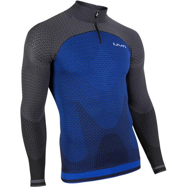 UYN Running Alpha OW Zip-Up Langarm-Oberteil Herren persian blue/charcoal