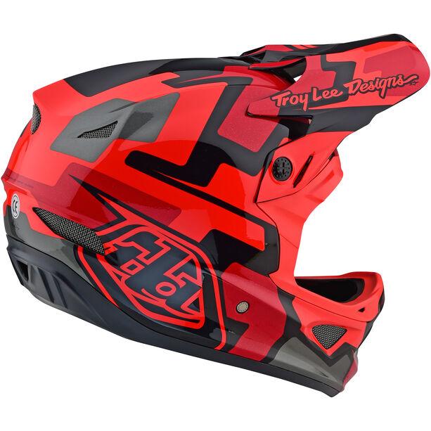 Troy Lee Designs D3 Fiberlite Speedcode Helmet red
