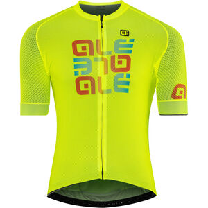 Alé Cycling Solid Mirror SS Jersey Herren flou yellow flou yellow