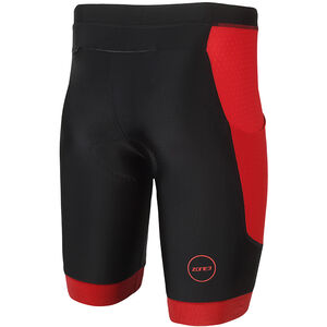Zone3 Aquaflo Plus Shorts Herren black/red black/red