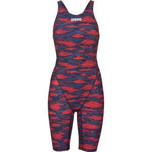 arena Powerskin ST 2.0 LTD Edition Full Body Short Leg Open Back Women blue-red