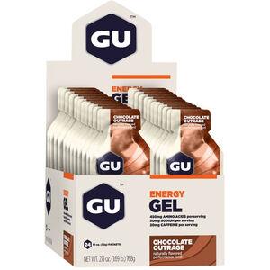 GU Energy Gel Box 24x32g Chocolate Outrage