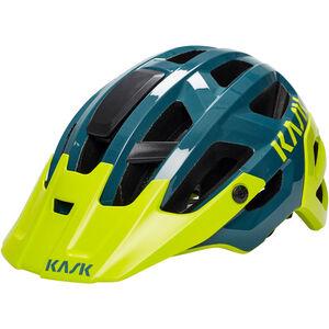 Kask Rex Helm dunkelgrün/gelb dunkelgrün/gelb