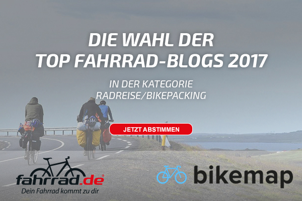 Top Fahrrad Blogs 2017 Banner Kategorie Radreise / Bikepacking