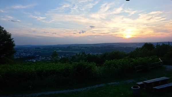 Abendstimmung - Aussicht - Mountainbiketour Erzgebirge