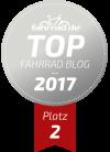Top Fahrrad-Blog zweiter Platz