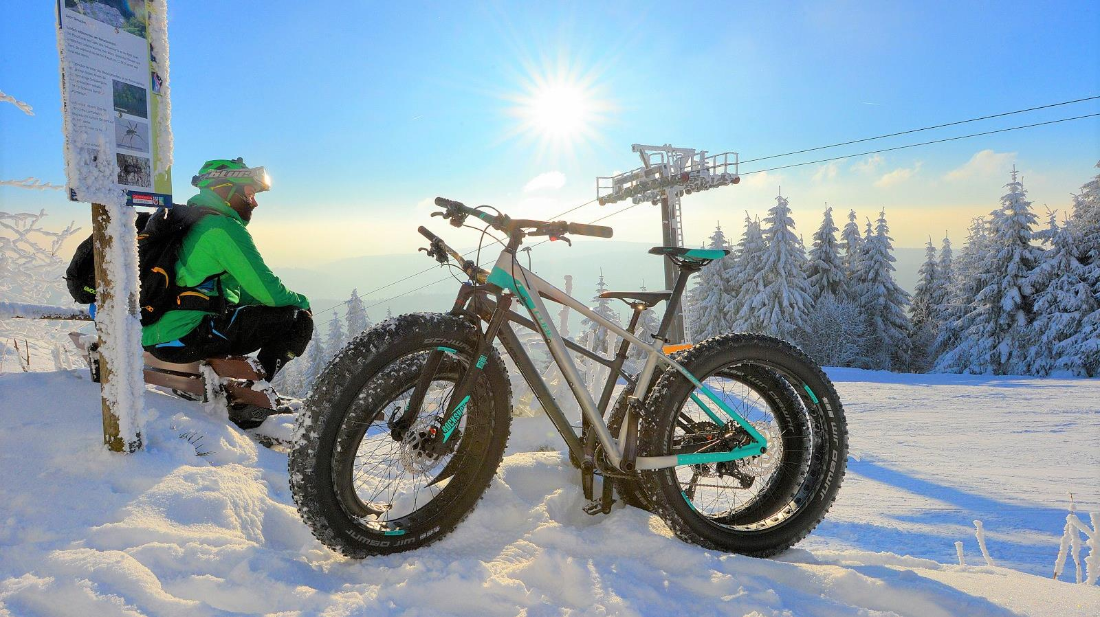 Mountainbiken im Winter