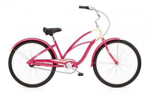 Damen Chopper Bike in Rosa