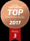 Top Fahrrad-Blog dritter Platz