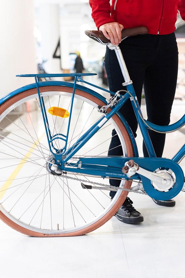 Fahrradpumpen - Standpumpe ansetzen