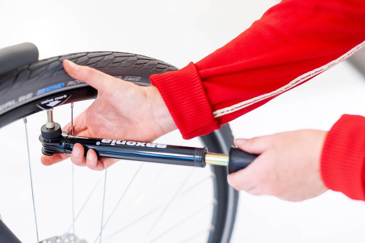 Fahrradpumpen - Minipumpe nutzen