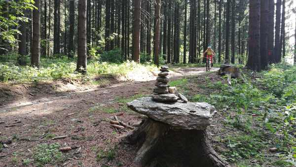 Steinmann auf dem Stoneman im Erzgebirge