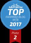 Top Fahrrad-Blog Platz 2 Kategorie Mountainbike