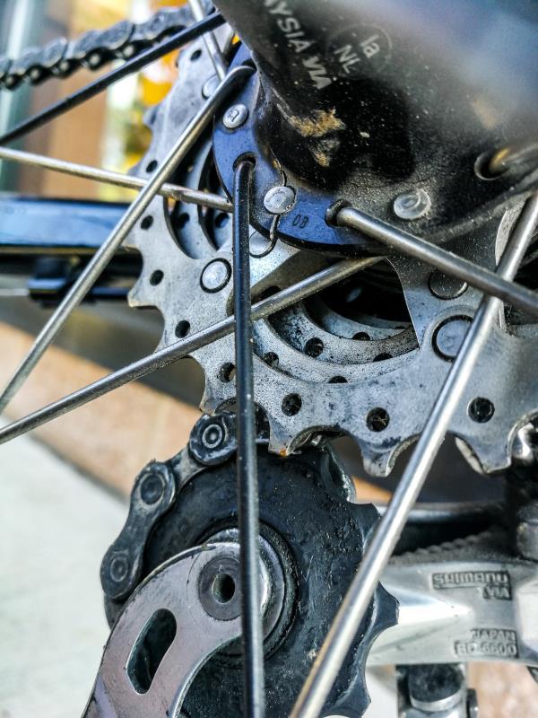 Fahrrad-Schaltung Bikepacking