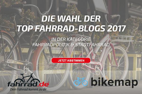 Banner Top Fahrrad-Blog Wahl Kategorie Stadtrad und fahrradpolitik