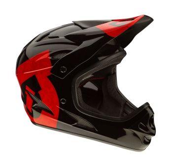Motocross Helm in Schwarz/Rot