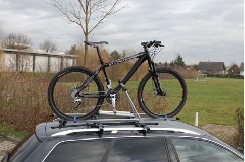 Fahrradträger ohne Anhängerkupplung fürs Dach