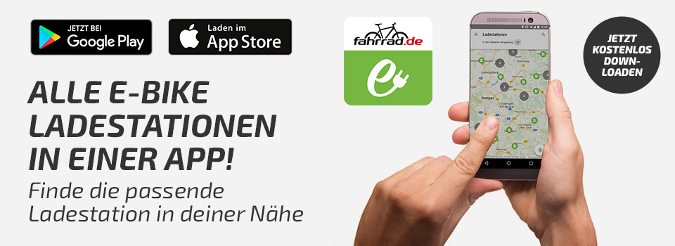 606e9678c41530 Die E-Bike Ladestationen als App - Unsere Übersicht der E-Bike  Ladestationen gibt es jetzt auch als App! Erhältlich für Android™ und iOS  (Apple).