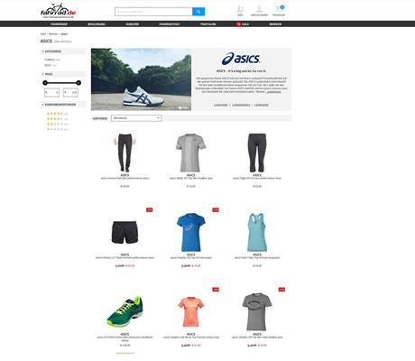Asics Shop von fahrrad.de