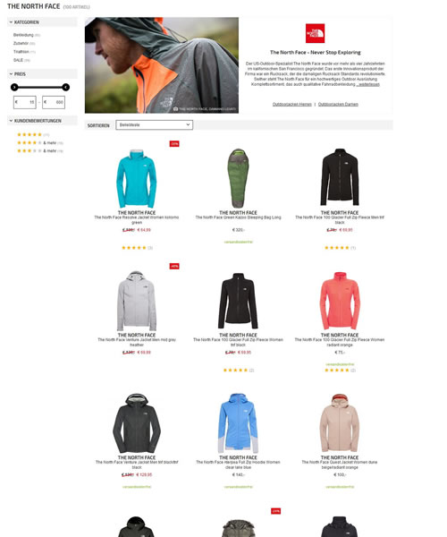 North Face Online Shop