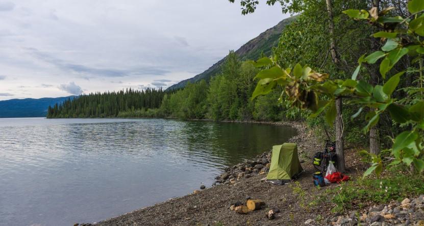 Der Altag bei der Radreise - Bikepacking Alaska New York