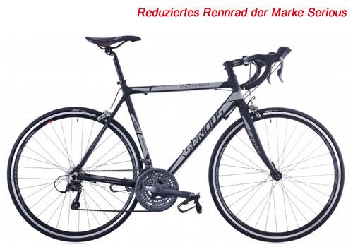 Rennrad der Marke Serious zum Discountpreis