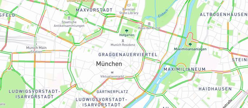 Reihe Fahrrad statt Auto - Staustadt München