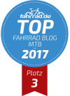 Top Fahrrad-Blog Platz 3 Kategorie Mountainbike