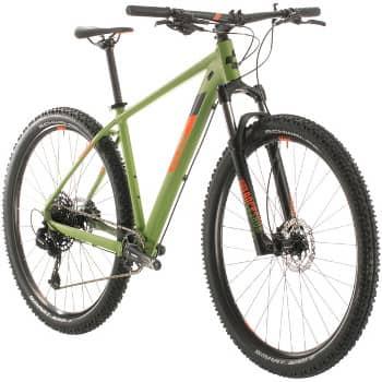 CUBE Einsteiger Mountainbike: Analog in grün/orange
