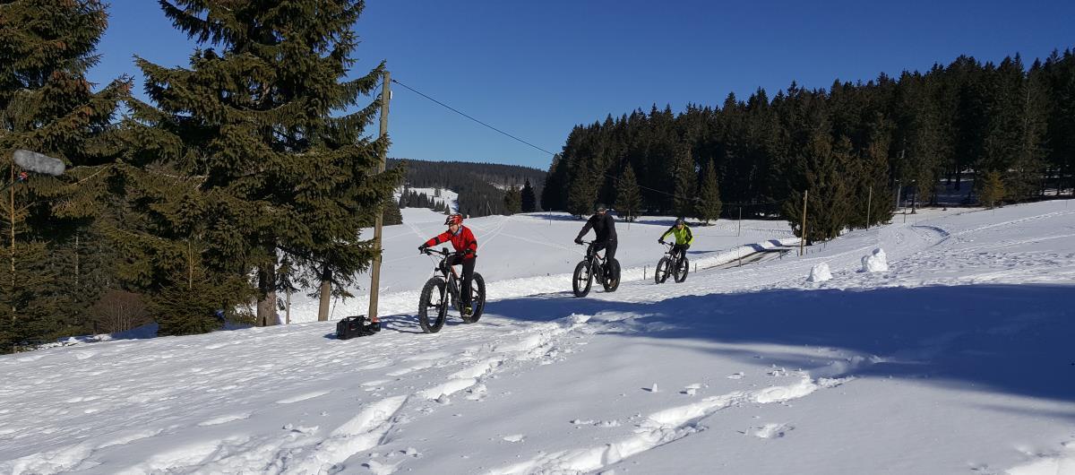 Mountainbiken im Winter - Fatbike Tour