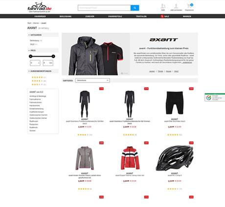 axant Shop von fahrrad.de